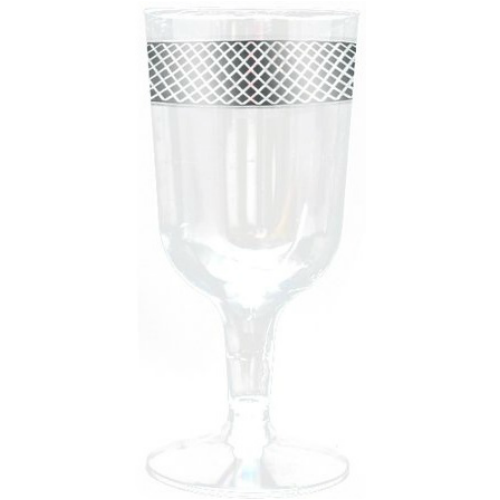 Decorline elegant wine glasses with beautiful design. Perfect for classy dinner parties or weddings. Matching plates and bowls add more to your event (sold separately). Sold in wholesale bulk and retail.