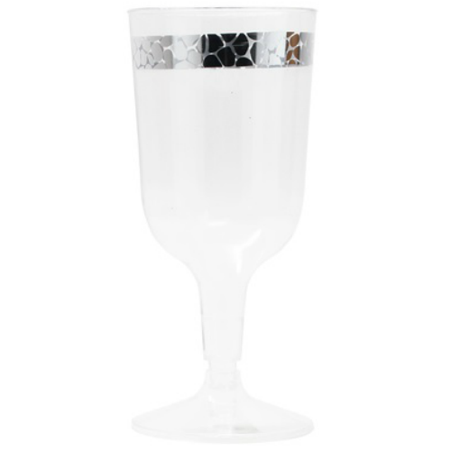 Decorline elegant glasses with beautiful design. Perfect for classy dinner parties or weddings. Matching plates and bowls add more to your event (sold separately). Sold in wholesale bulk and retail.