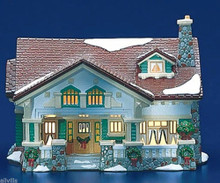 CRAFTSMAN COTTAGE 5437-2 Retired Dept 56 Snow Village MID CENTURY CLASSIC STYLE