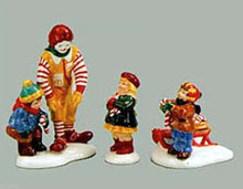 KIDS, CANDY CANES & RONALD MCDONALD ™ #54926  DEPT 56 RETIRED SNOW VILLAGE