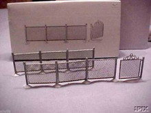 CHAIN LINK FENCE & GATE Dept 56 Snow or Heritage Village - great with slot cars