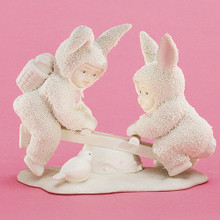I'M TEETEER YOU'RE TOTTER 26204 Springtime Stories of  Snowbunnies Dept 56