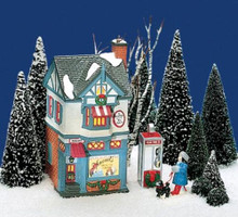 MARVEL'S BEAUTY SALON Dept 56 Original Snow Village Collection Retired