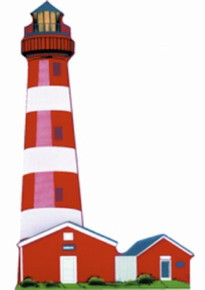 ASSATEAGUE ISLAND LIGHT LTS07 EAST COAST LIGHTHOUSE SERIES RETIRED SHELIA'S 1997