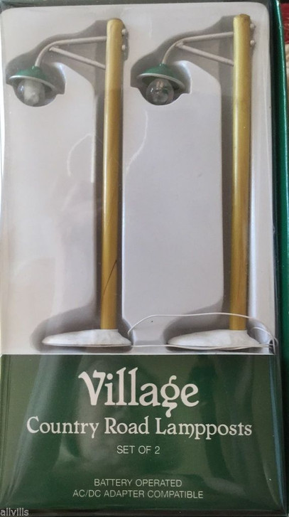 COUNTRY LAMPPOSTS SET OF TWO