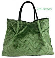 LOLA - Embossed Chevron Cactus Green