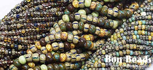 New aged striped seed beads