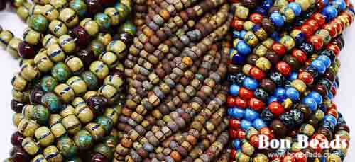 Over a dozen new aged seed bead mixes