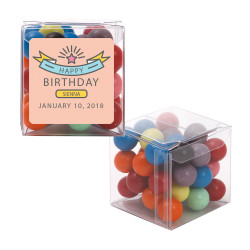 Pink Birthday Sweet Cubes