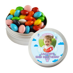 Cupcake Balloon Birthday Twist Tins