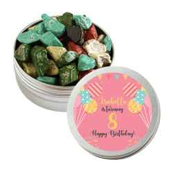 Pink Balloon Birthday Twist Tins