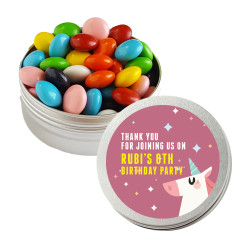 Mauve Unicorn Birthday Twist Tins