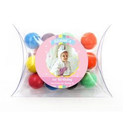 Pink Baby Birthday Pillow Box