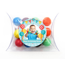 Balloons Birthday Pillow Box
