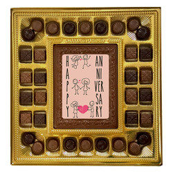 Pink Happy Anniversary Deluxe Chocolate Box