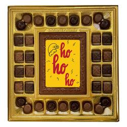 Santa Hat Ho Ho Ho Deluxe  Chocolate Box