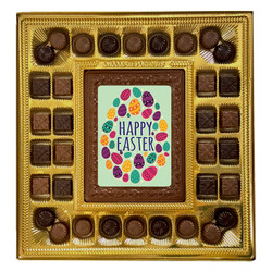 Colorful Eggs Happy Easter Deluxe  Chocolate Box