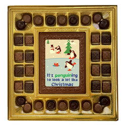 Penguining to Look Like Christmas Deluxe  Chocolate Box