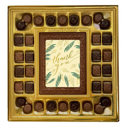 Green Thank You Deluxe  Chocolate Box