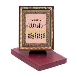 Candles Make a Wish Chocolate Portrait