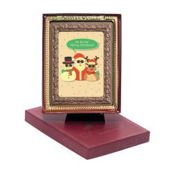 Ho! Ho! Ho! Merry Christmas Chocolate Portrait