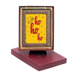 Santa Hat Ho Ho Ho Chocolate Portrait