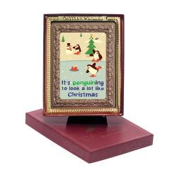 Penguining to Look Like Christmas  Chocolate Portrait
