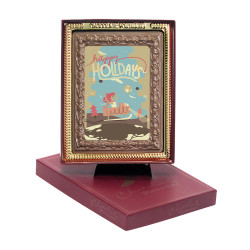 Happy Holidays Chocolate Portrait