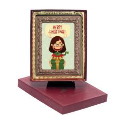 Merry Christmas Chocolate Portrait