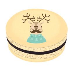 Reindeer Christmas Printed Macarons