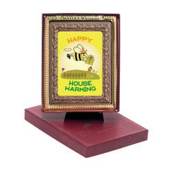 Happy House Warming Bee Chocolate Portrait