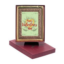 Happy Valentine's Day Chocolate Portrait