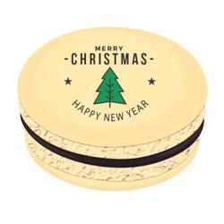Christmas Tree Star Greetings Christmas Printed Macarons