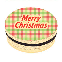 Checkered Greetings Christmas Printed Macarons