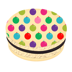 Colorful Balls Christmas Printed Macarons