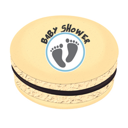 Foot Print Baby Shower Printed Macarons
