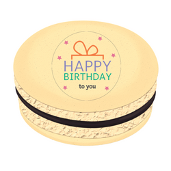 Happy Birthday to You Printed Macarons
