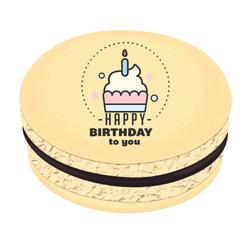 Happy Birthday Cupcake Printed Macarons