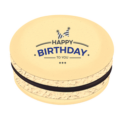 Blue Happy Birthday To You Printed Macarons
