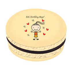 Girl Birthday Hugs! Printed Macarons