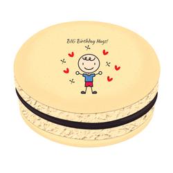 Boy Birthday Hugs! Printed Macarons