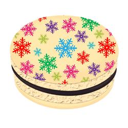Colorful Snowflakes Christmas Printed Macarons