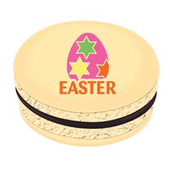 Pink Easter Egg Printed Macarons
