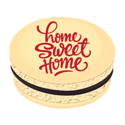 Red Home Sweet Home Printed Macarons
