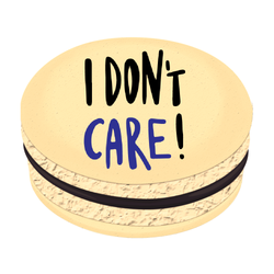 I Don't Care Printed Macarons