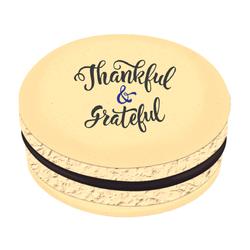 Thankful and Grateful Printed Macarons