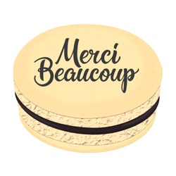 Merci Beaucoup Printed Macarons