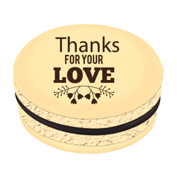 Thanks For Your Love Printed Macarons