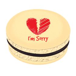 Broken Heart Sorry Printed Macarons