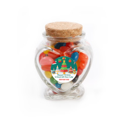 Be Blessed Christmas Heart Glass Jar